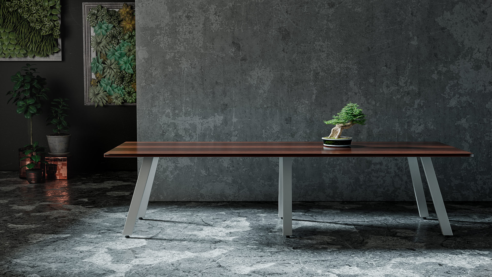 AIM™ XL Conference Table - Wood Veneer Top with Knife Edge