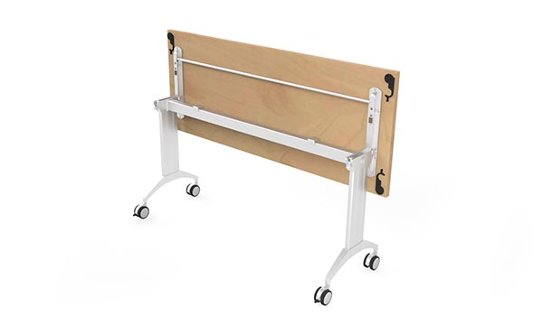 LINK Table with easy access to release mechanism  under the full length of table