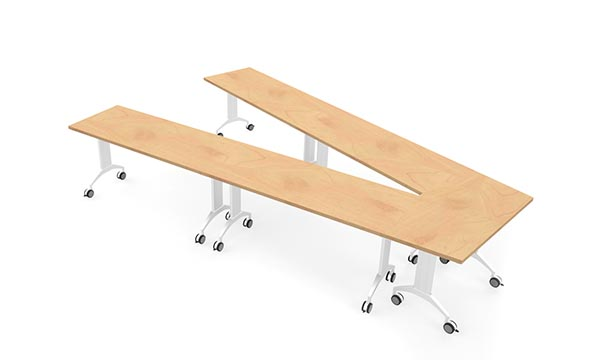 LINK Table configuration with trapezoind and rectangle tops