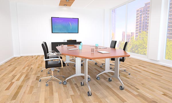 LINK Table with trapezoid top for conference rooms