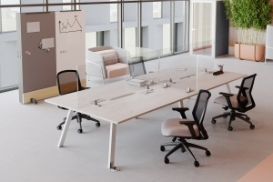 Aim EZ Desking with Plexglass
