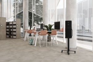 Air Purification System on Mobile Sienna Stand and Aim tables