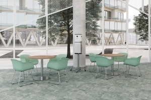 Air Purification System on Sienna Mobile Stand and Bistro Tables