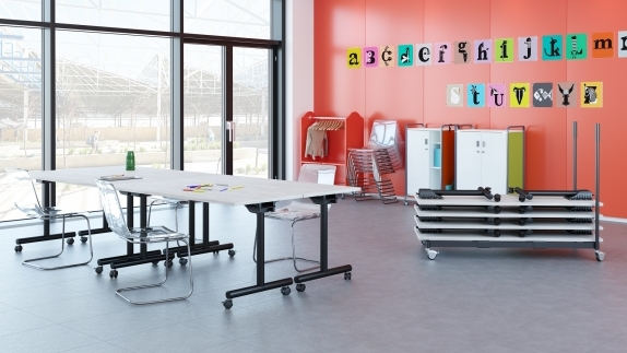 Kingston Classroom with Folding Option and Casters