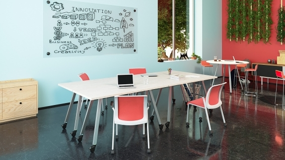Collaboration tables are offered in a wide range of sizes