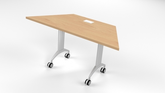 LINK Table with grommet on kensington maple color laminate top