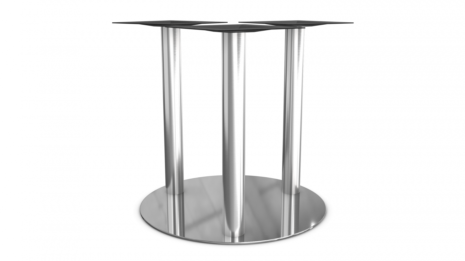3 Column Stainless Steel Round Base