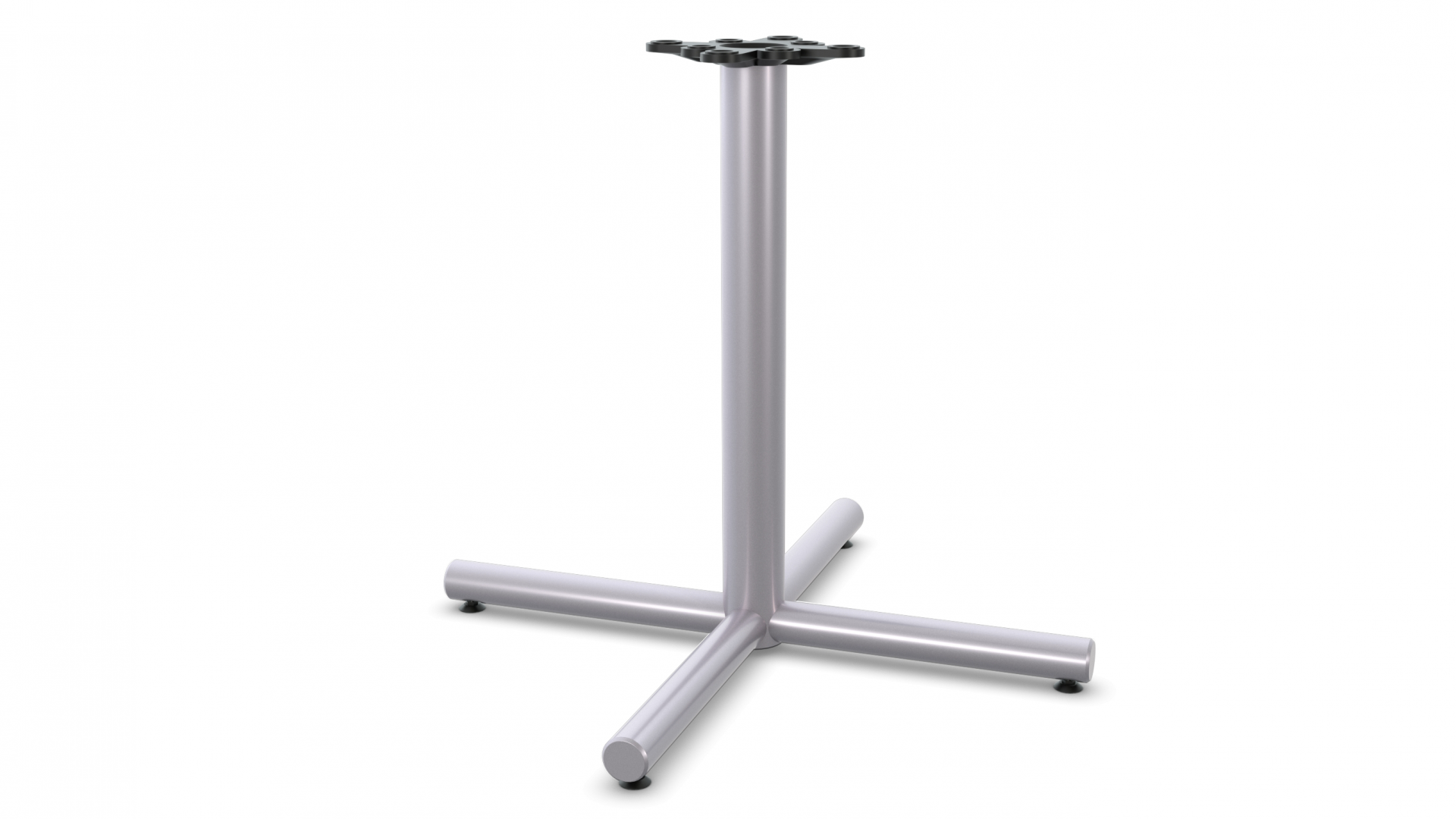 Single Column X-Base - Metallic Silver