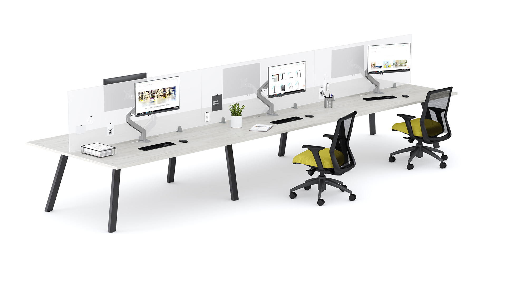 Aim EZ Desking with Acrylite Screen